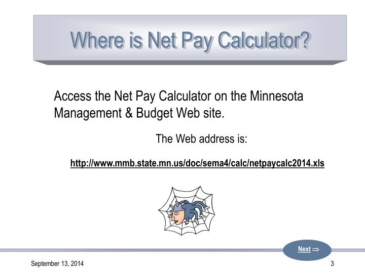 where is net pay calculator