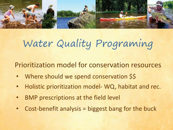 Water Quality Programing