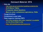 outreach material epa