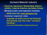 outreach material industry