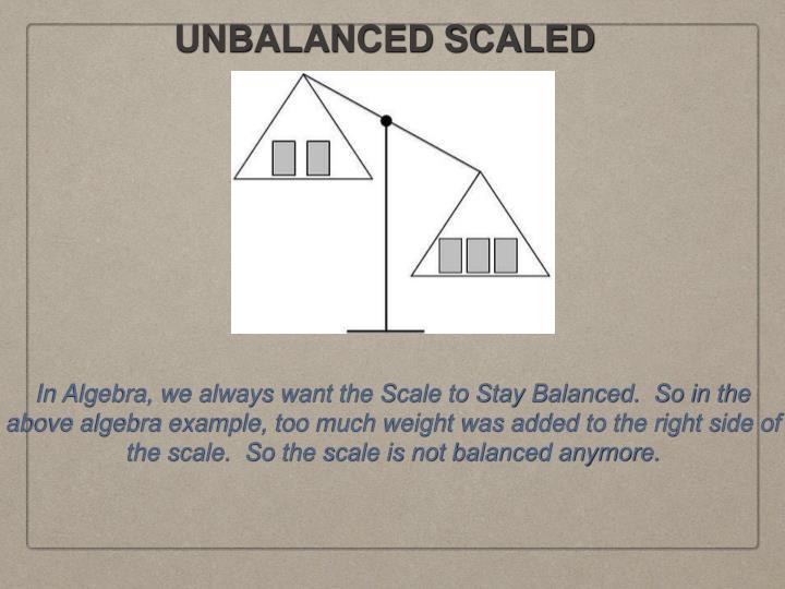UNBALANCED SCALED
