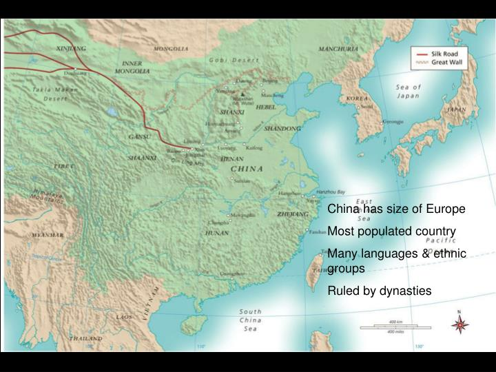 China has size of Europe
