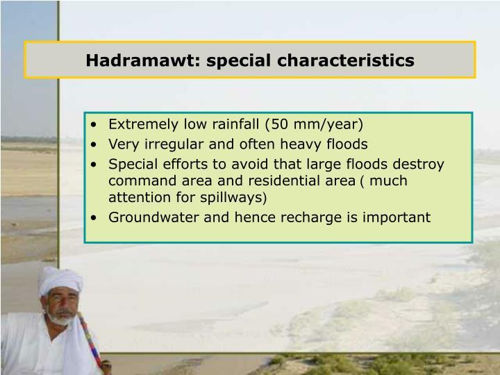 Hadramawt special characteristics