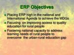 erp objectives