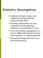 initiative assumptions