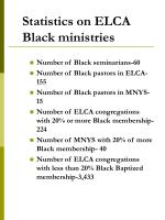 statistics on elca black ministries