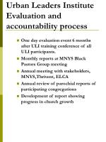urban leaders institute evaluation and accountability process