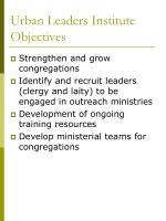 urban leaders institute objectives