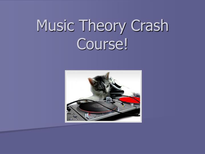 music theory crash course