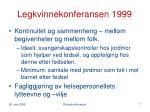legkvinnekonferansen 1999