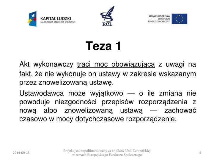 Teza 1