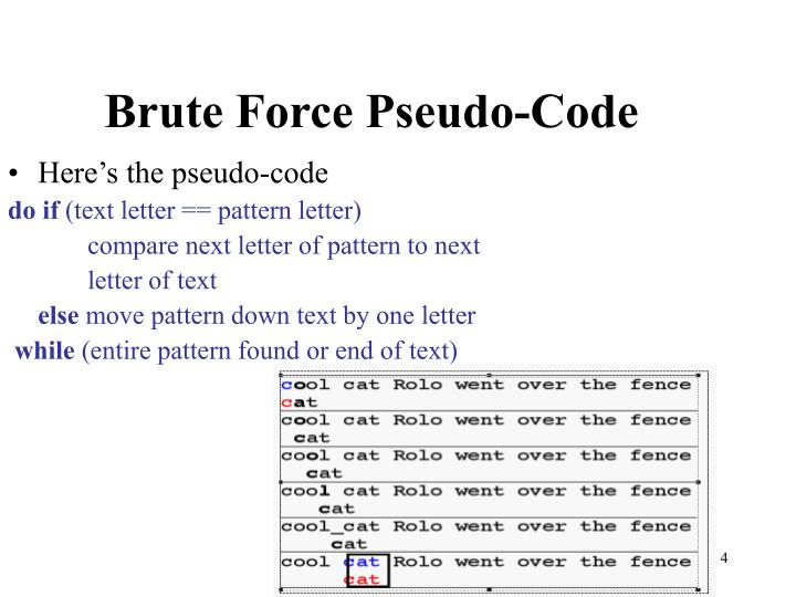 Brute Force Pseudo-Code