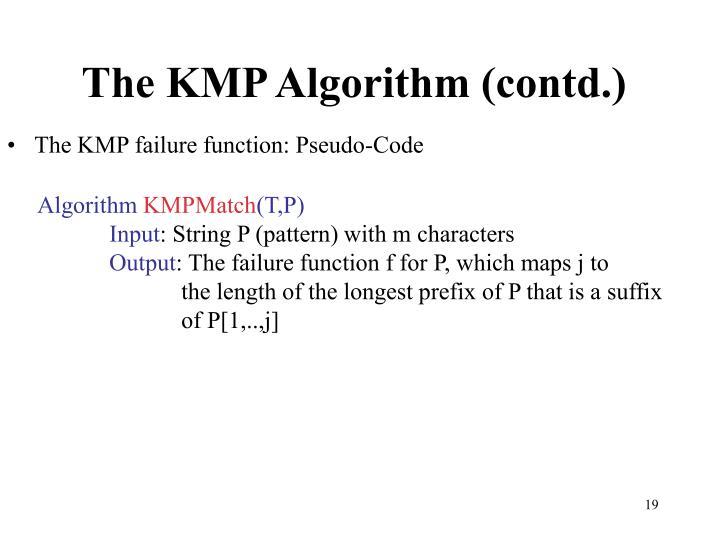 The KMP Algorithm (contd.)