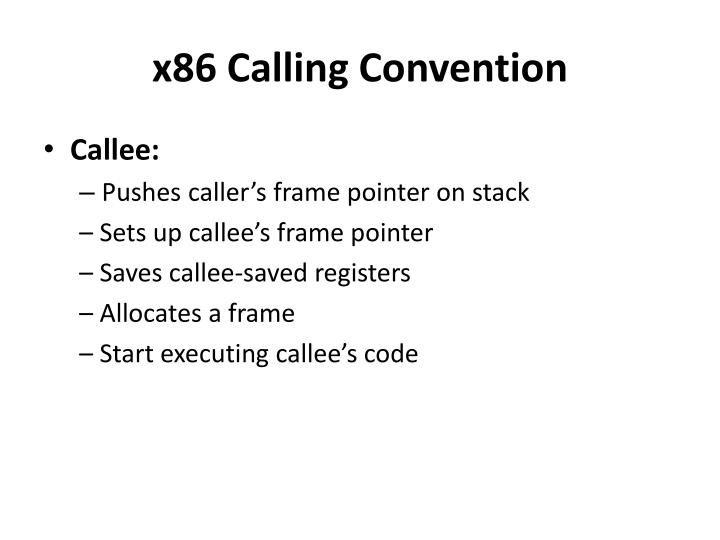 x86 Calling Convention