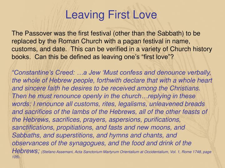Leaving First Love