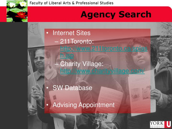 Agency Search