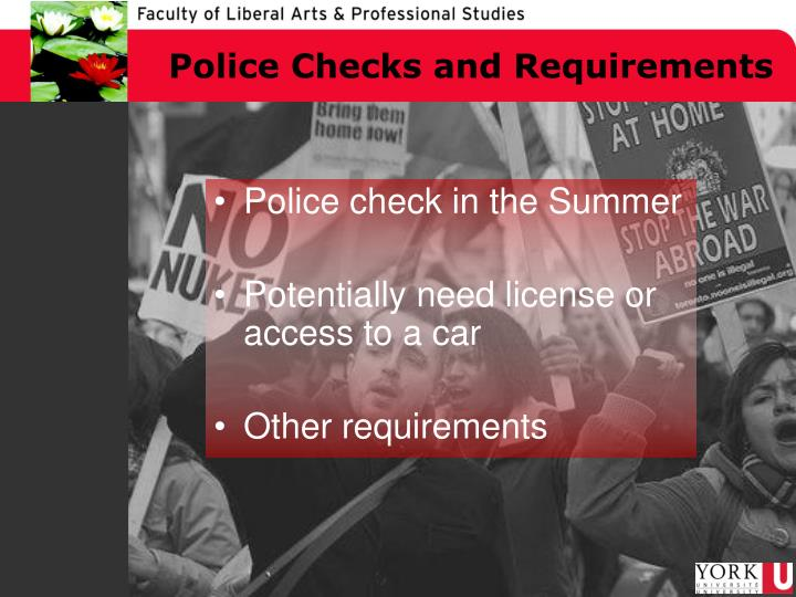 Police Checks and Requirements