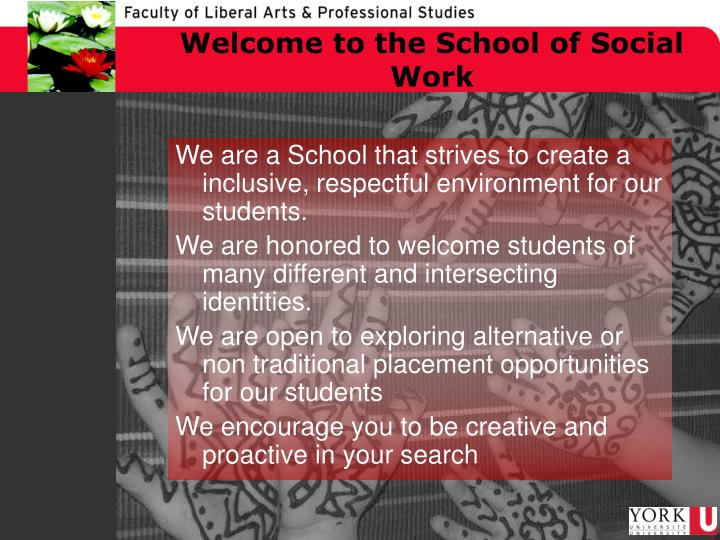 Welcome to the School of Social Work