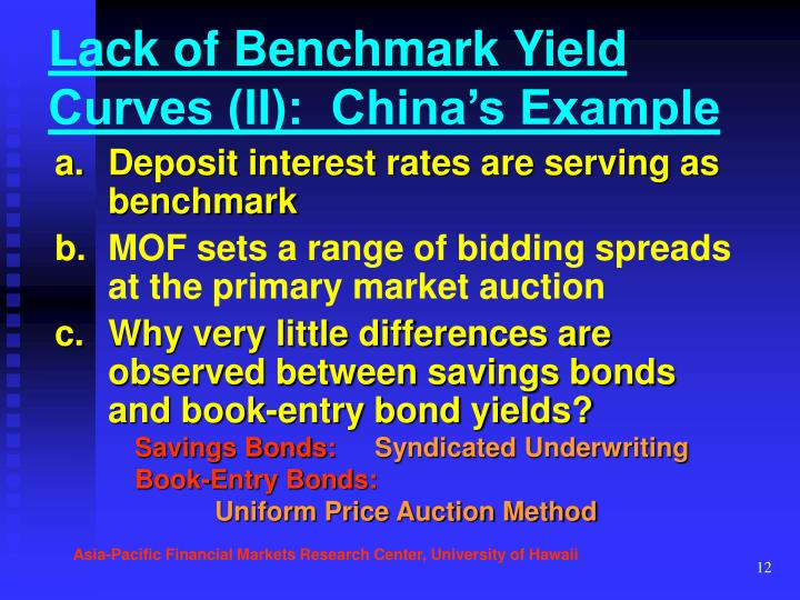 Lack of Benchmark Yield Curves (II):  China's Example