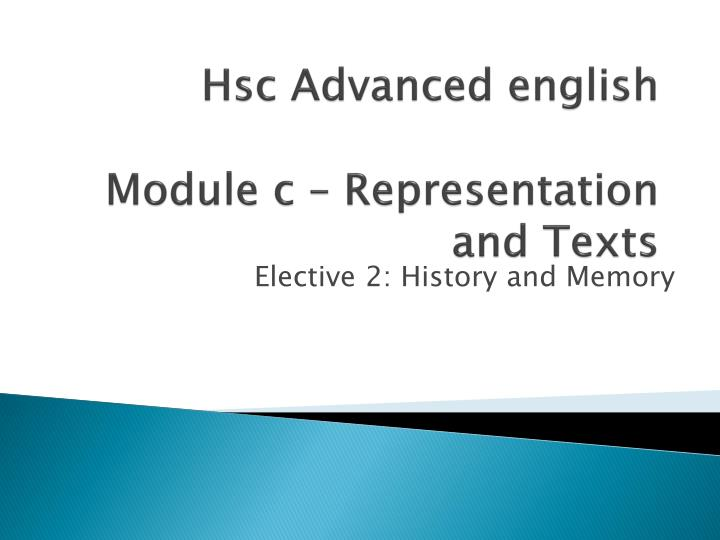 hsc advanced english module c representation and texts