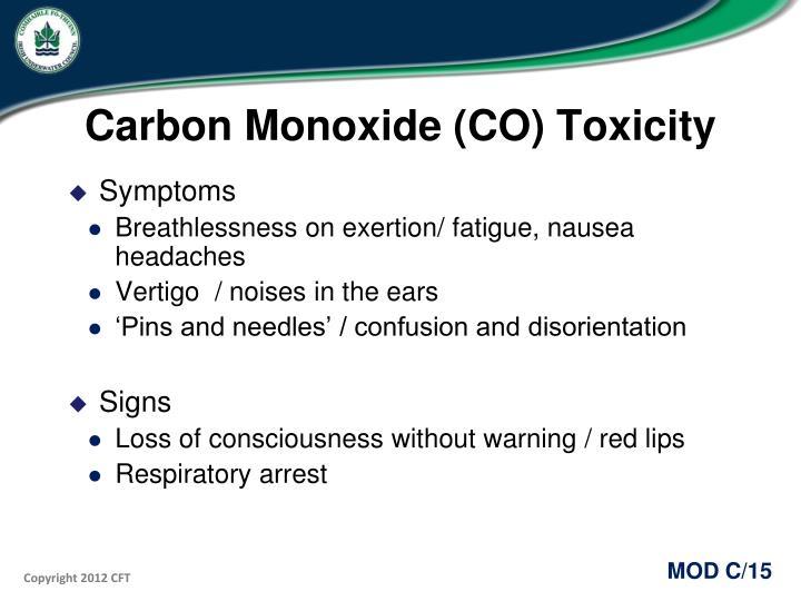 Carbon Monoxide (CO) Toxicity