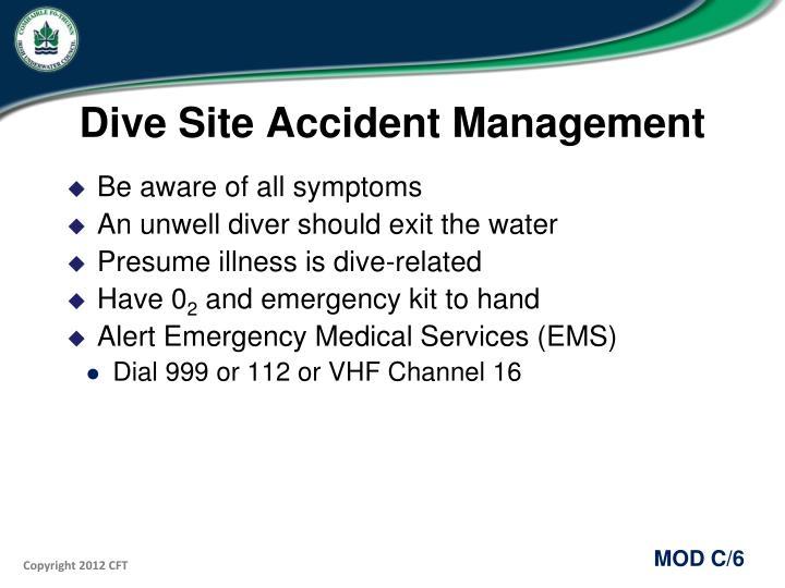 Dive Site Accident Management