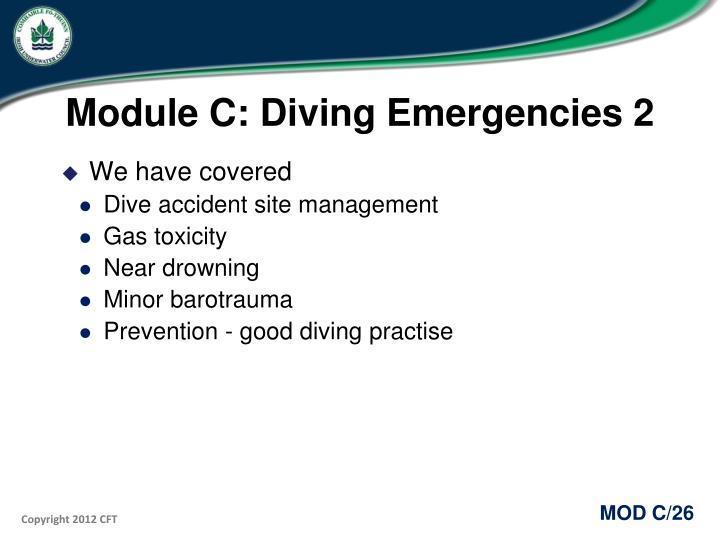 Module C: Diving Emergencies 2