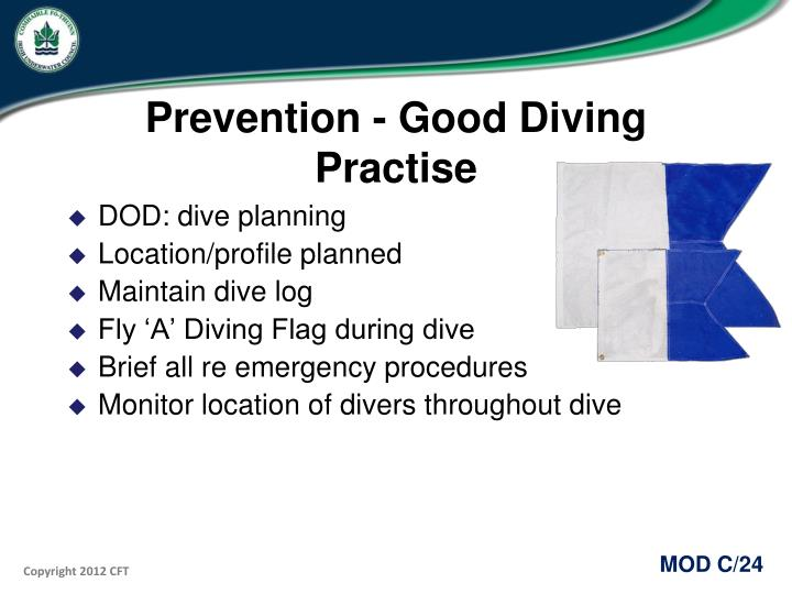 Prevention - Good Diving Practise