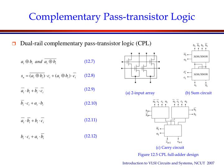 Ppt - Chapter 12 Arithmetic Circuits In Cmos Vlsi Powerpoint Presentation