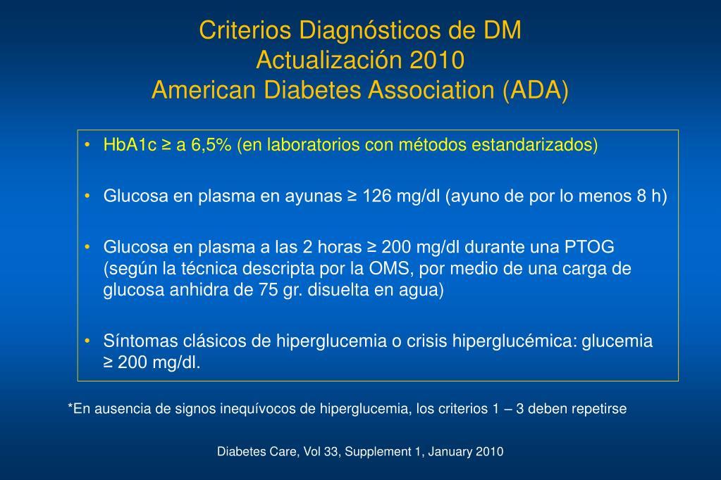 criterios diagnósticos de diabetes gestacional oms