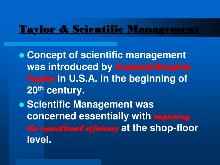 Taylor & Scientific Management