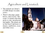 agriculture and livestock