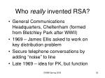 who really invented rsa
