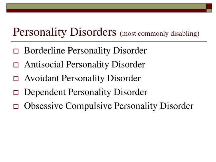 an overview of the borderline personality disorder Borderline personality disorder (bpd) is a mental illness learn about symptoms and treatment options.