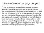 barack obama s campaign pledge