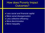 how does poverty impact outcomes