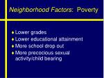 neighborhood factors poverty