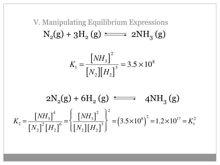 V. Manipulating Equilibrium Expressions