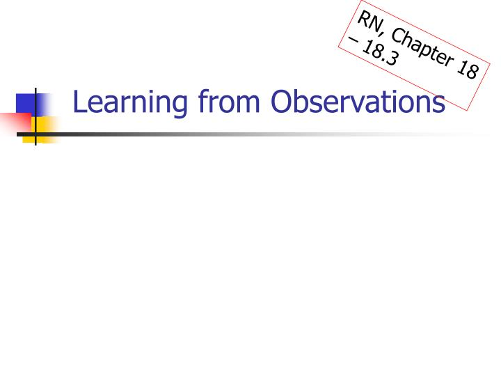 learning from observations n.
