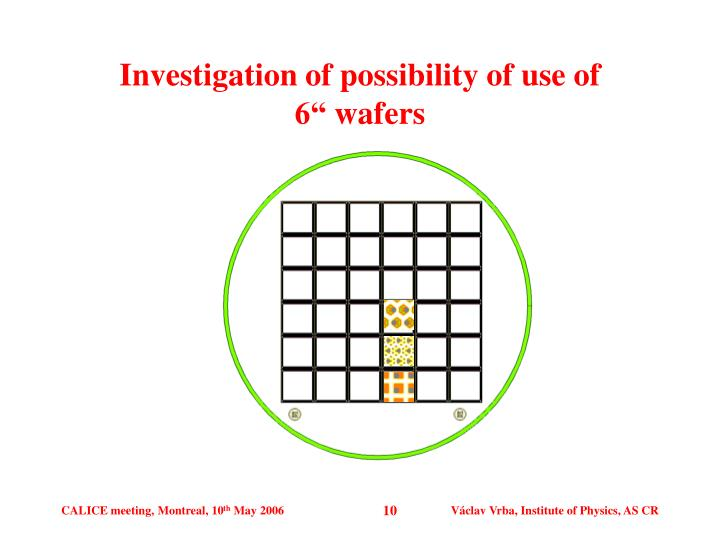 Investigation of possibility of use of
