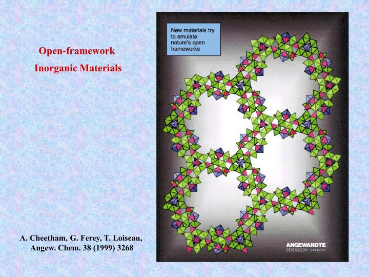 Open-framework