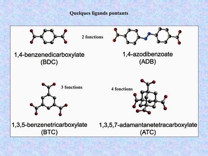 Quelques ligands pontants