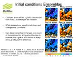initial conditions ensembles