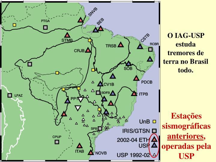 O IAG-USP estuda tremores de terra no Brasil todo.