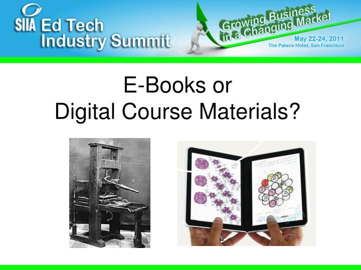 E-Books or