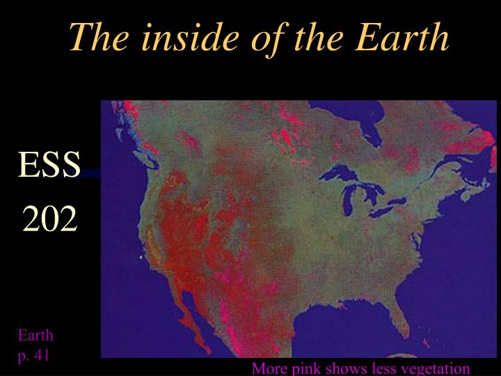 the inside of the earth n.