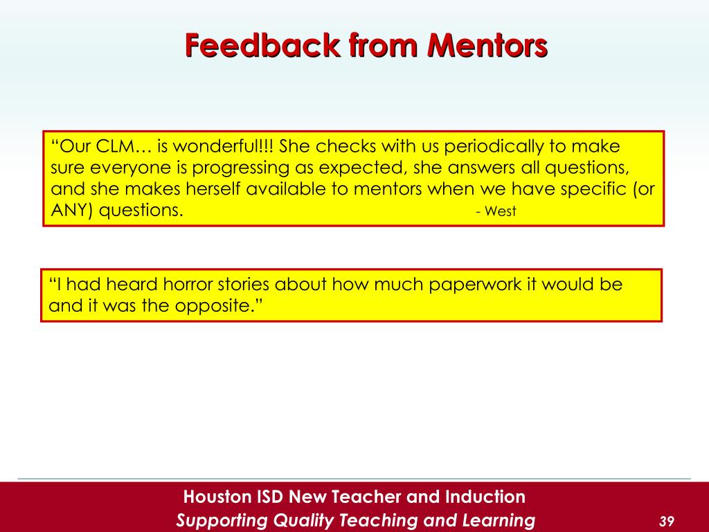 PPT - My Role in the Induction Program Mentor Campus Lead