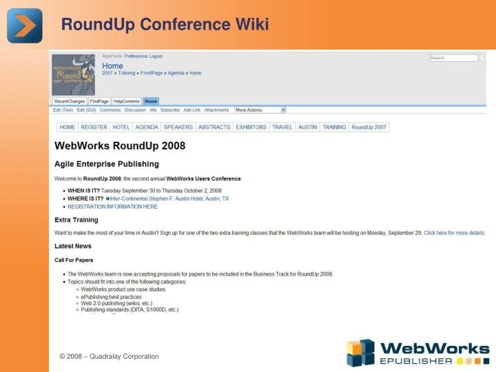 RoundUp Conference Wiki