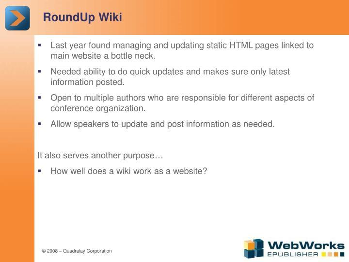 RoundUp Wiki