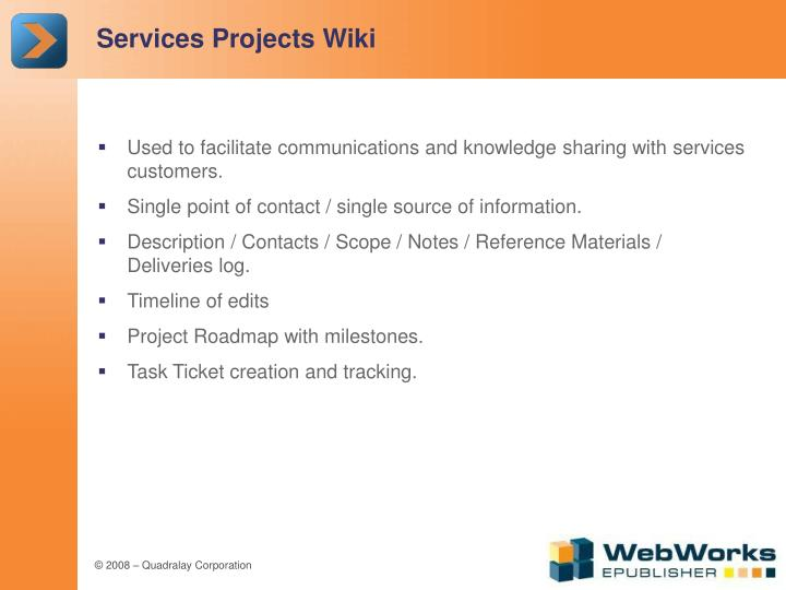 Services Projects Wiki